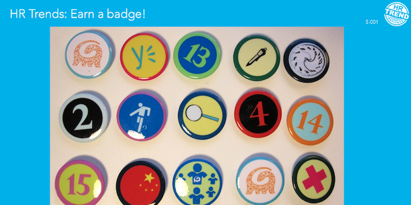 Badges used in the Arcadis Global Shapers Program