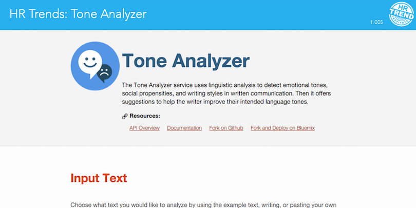 HR Trends Tone Analyzer