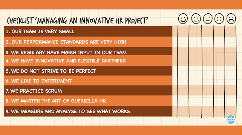 Checklist Managing an Innovative HR Project