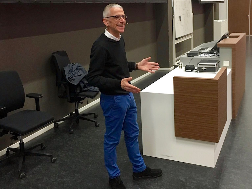 Tom Haak lecturing at VU Amsterdam