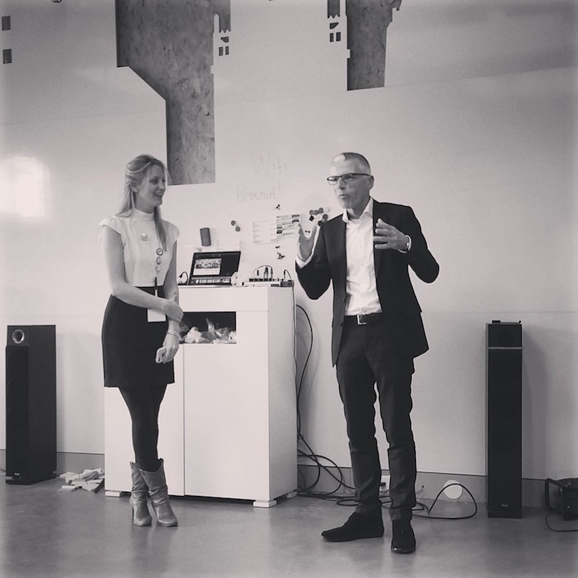 Tom and Sylke at book launch