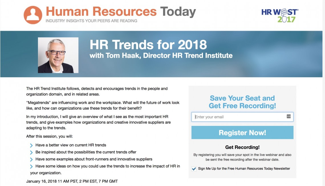 HR Trends for 2018