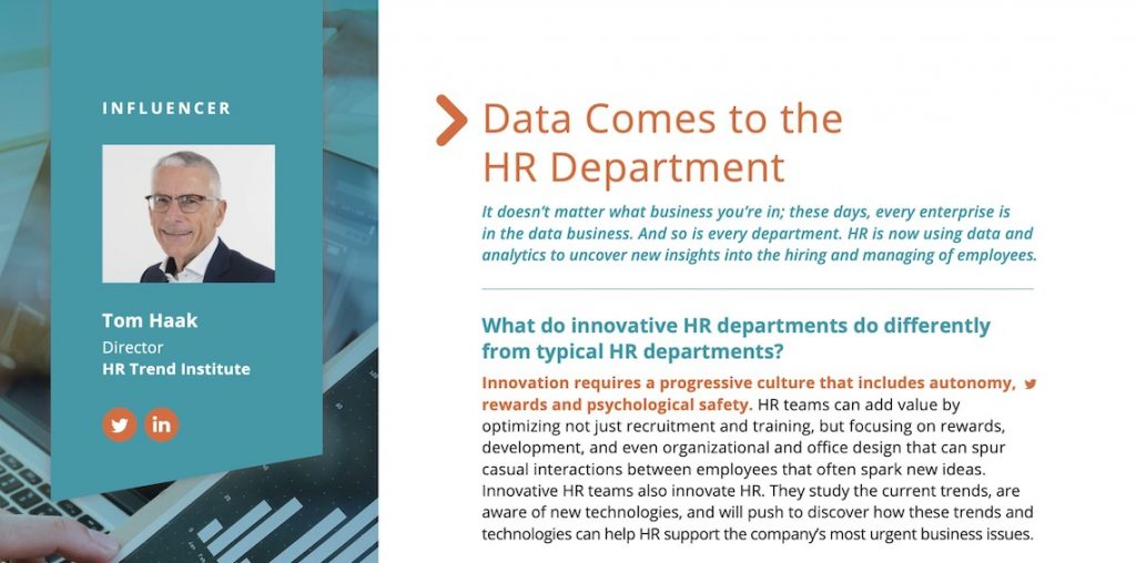 Data comes to the HR Department